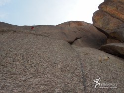 Looking up P4. 'Childhood's End', Big Rock Candy Mountain - South Platte, CO.