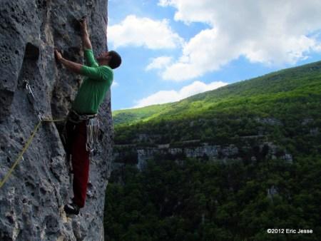 P3 of Or Sujet (6c, 5.11 a/b) - Verdon Gorge, France