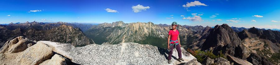The view from the summit of Liberty Bell. Liberty Bell via 'Beckey Route' - North Cascades, WA.