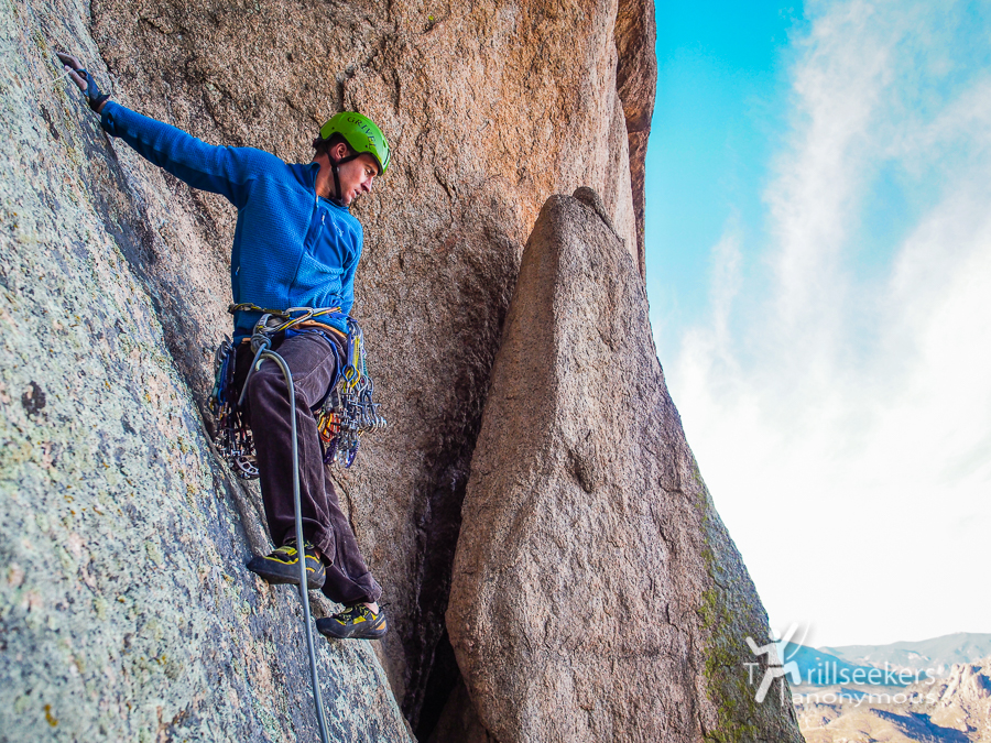 Setting up P6. 'Shock Treatment', Big Rock Candy Mountain - South Platte, CO.
