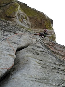 Offwidth P2 of Traveler Buttress at Lover's Leap - Thrillseekers Anonymous