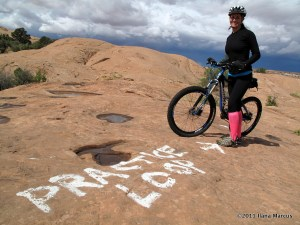 Practice Loop of Slickrock Trail Mountain Biking - Moab, Utah