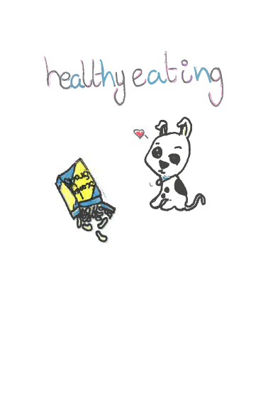 Puppy and healthy snacks