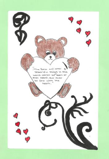 Teddy and heart