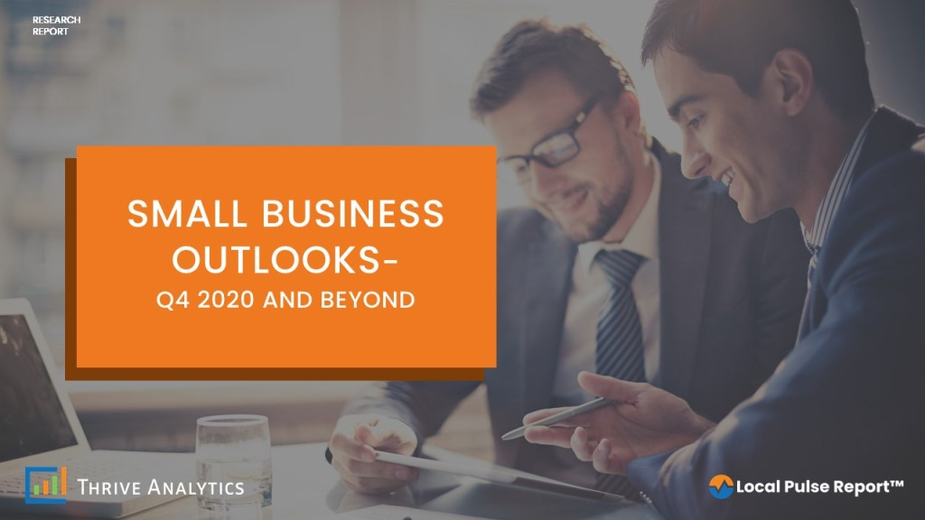 Small Business Outlooks- Q4 2020 and Beyond