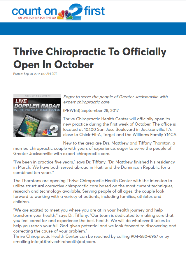 chiropractic adjustment | Thrive Chiro Health