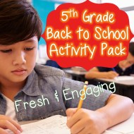 5th grade new activities cover page