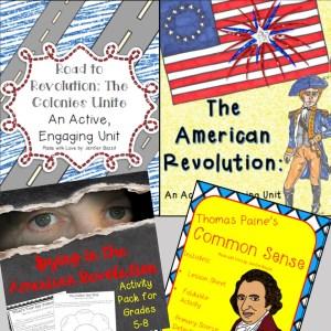American Revolution bundle; American Revolution activities