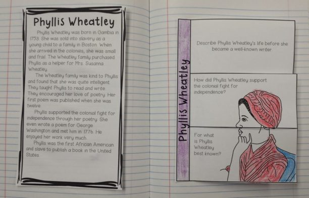 Phyllis Wheatley; American Revolution activities