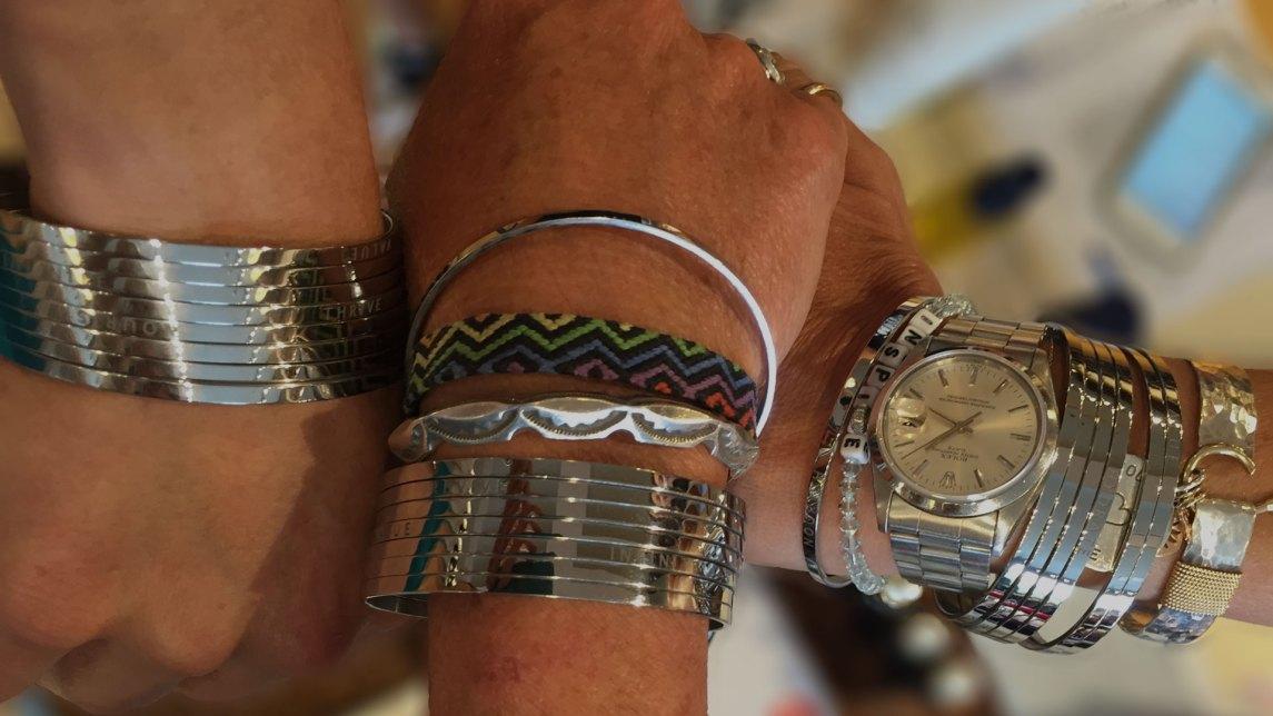 wrists wearing bangles