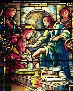 Jesus washes disciples' feet