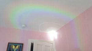 rainbow on ceiling