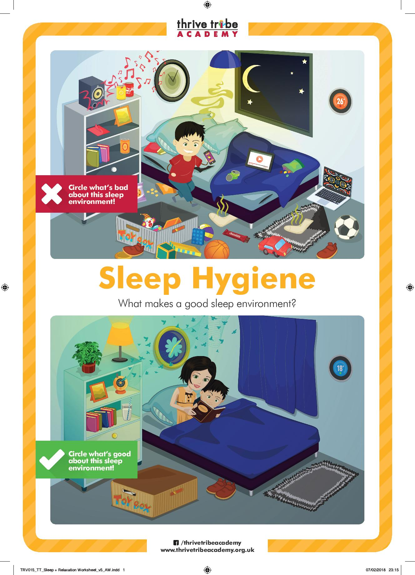 Sleep Amp Relaxation Worksheet With Crops Page 001