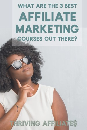 Are you looking for the best affiliate marketing course? Well, here are 3 - choose the one that best fits your learning style and goals! #thrivingaffiliates #affiliatemarketing