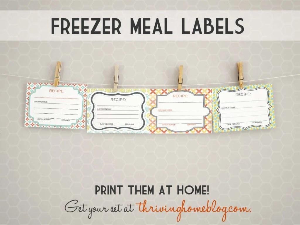 30 Kid Friendly Freezer Meals