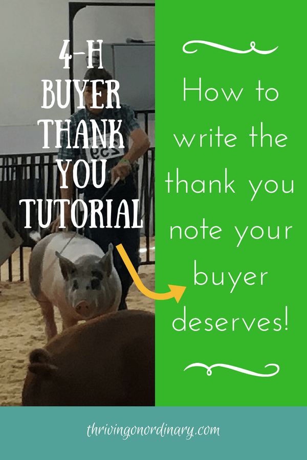 4 H Buyer Thank You Tutorial Thriving On Ordinary