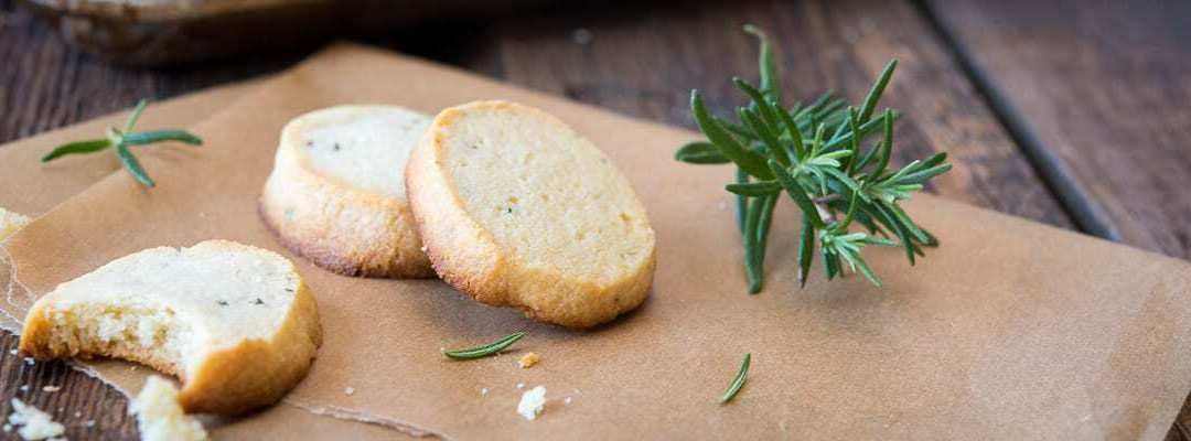 Paleo Rosemary Shortbread Cookies