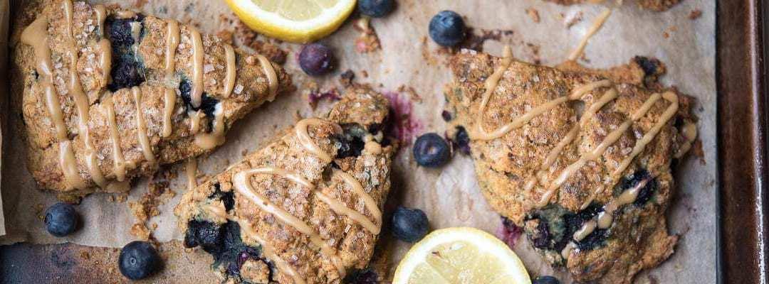 Paleo Blueberry Lemon Scones