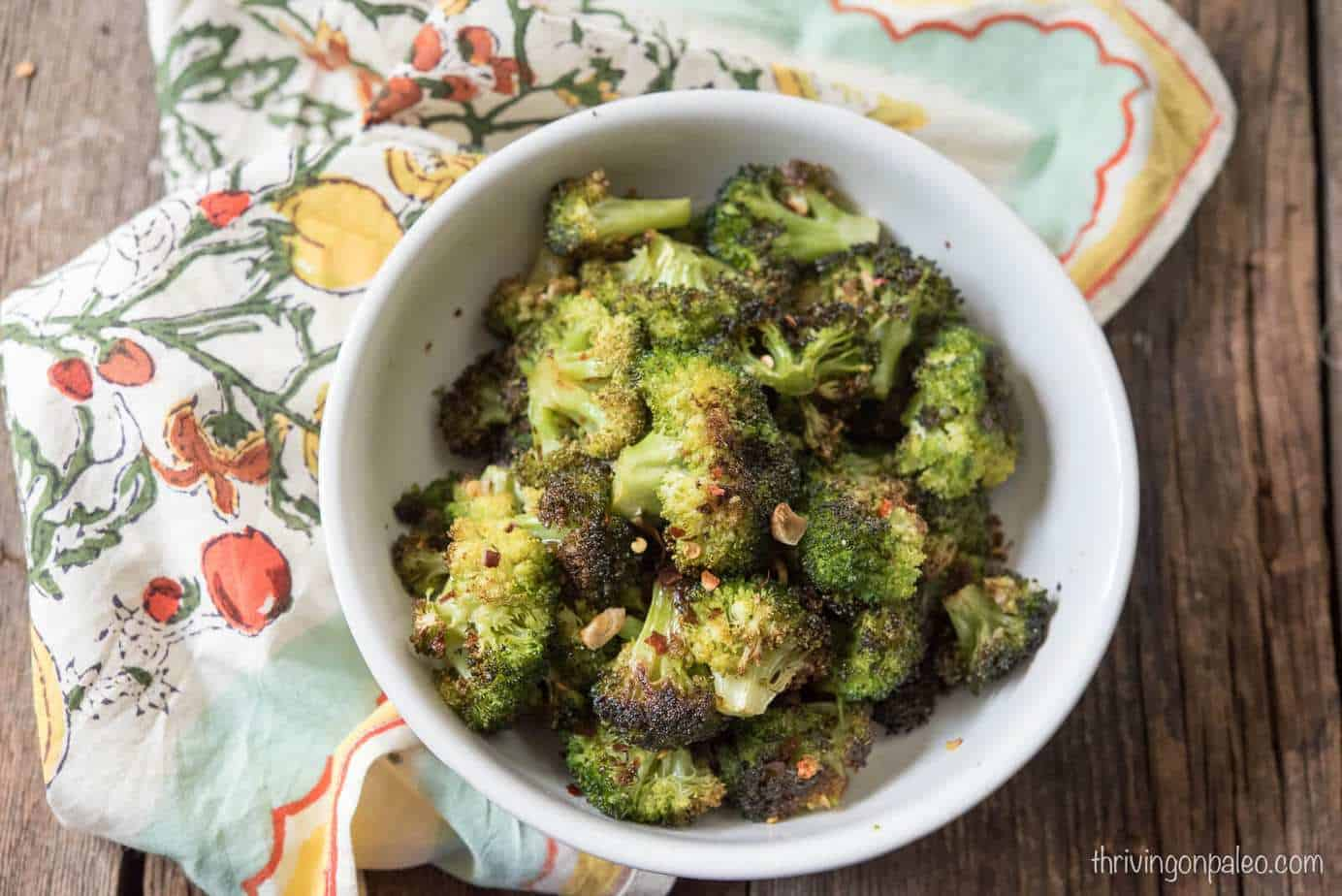 Roasted Broccoli - a recipe for a quick and easy Paleo and gluten-free side dish