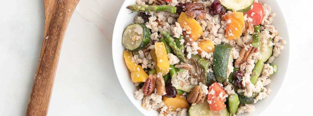 "Roasted Vegetable Grain-free ""Couscous"""