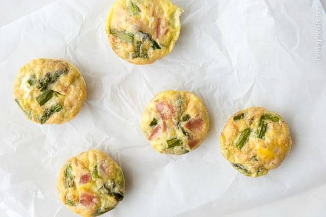 Asparagus and Pancetta Egg Muffins - a gluten-free, dairy-free, and Paleo breakfast recipe that is great for a quick on-the-go morning