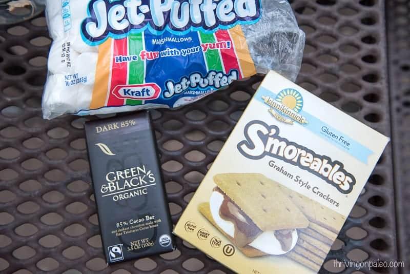 S'mores ingredients - gluten-free
