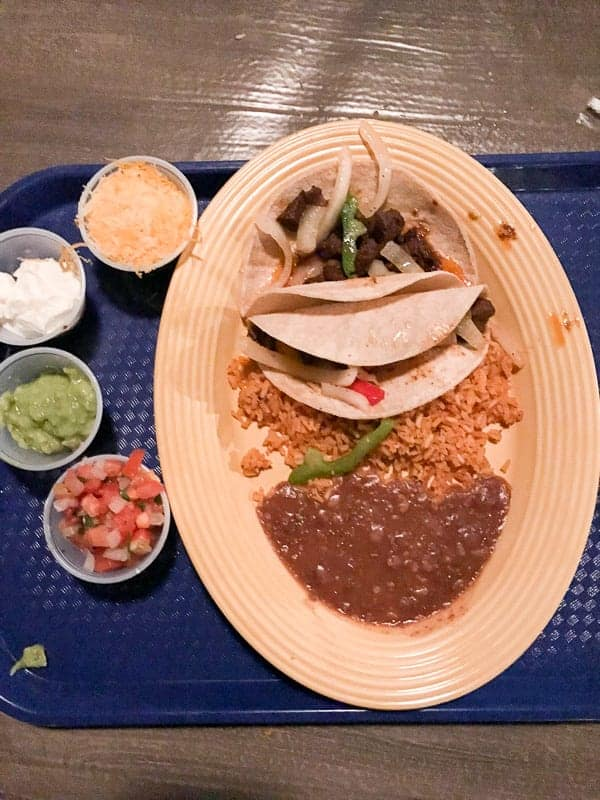 Eating gluten-free at Disneyland - dinner from Cocina Cucomonga