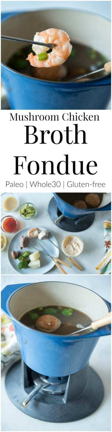 How to Make a Paleo Broth Fondue that your Whole Family Will Love - and a free printable for conversation starters. Get your whole family around the table, talking and having fun with this delicious recipe that's Paleo, gluten-free, and Whole30 compliant. #paleorecipe #glutenfreerecipe #whole30recipes #healthyfamily