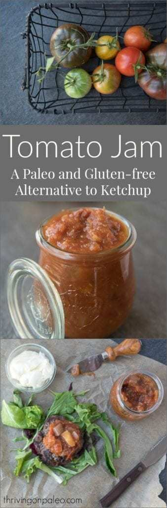 Tomato Jam - a recipe for a fun alternative to ketchup that is Paleo and gluten-free