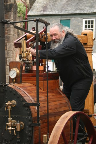 June is also Murdoch Day in Redruth. William Murdoch was a key figure in the development of steam engines in mining, and also the first man to light a domestic house with gas. I live on the street he lived on and this is one of the men who have built a replica Murdoch Flier - his first steam engine. On the morning of Murdoch Day I found them wandering up and down our street looking for somewhere to fill their water tanks. Unfortunately our taps were the wrong shape so I can't claim the steam as my own. But it was fun to be part of things, and hasn't this man got the best steam engine beard ever?