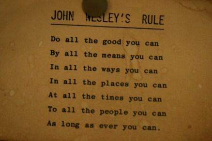 john wesley's rule
