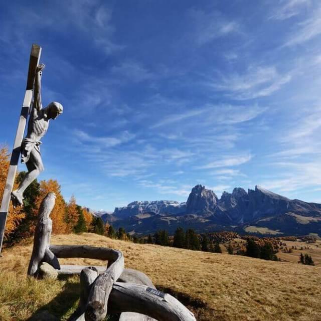 Wayside Shrine in Seiser Alm, South Tyrol, Italy