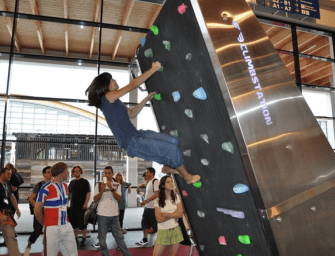 ClimbStation: Wall Climbing and Treadmill in One