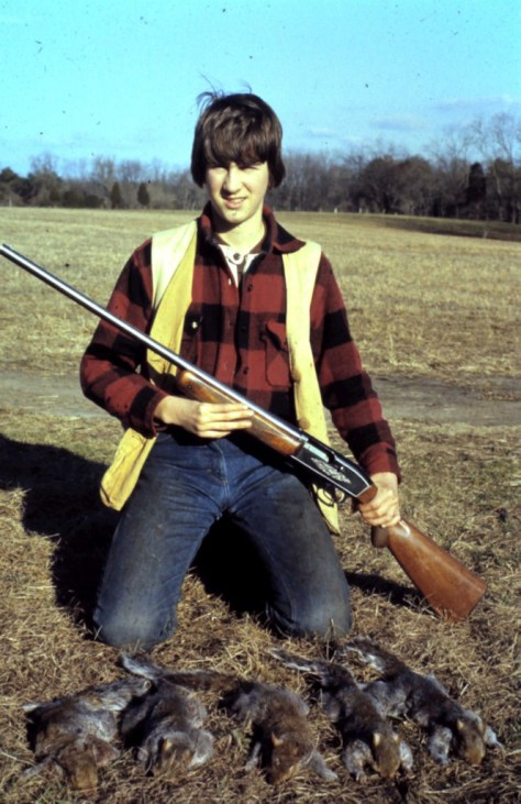 A Vntage Photograph of a Boy With A Shotgun and a Limit of Squirrels Taken After a Morning of Squirrel Hunting in Maryland. Photograph By Michael Patrick McCarty