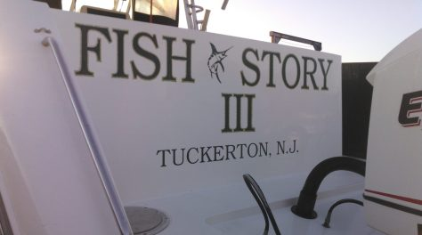 The Fish Story III, A Fishing Boat Found At Dry Dock at The Maritime Marina in Tuckerton, New Jersey