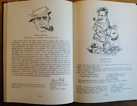 Famous Sportsmen's Recipes For Fish, Game, Fowl and Fixin's, Compiled by Jessie Marie Deboth. Cookbook, From the collection of Michael Patrick McCarty