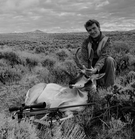 A Hunter Poses With A Trophy Pronghorn Antelope Buck, With Sage Flats All Around. Taken While rifle Hunting In Northern Colorado. Posted by Michael Patrick McCarty