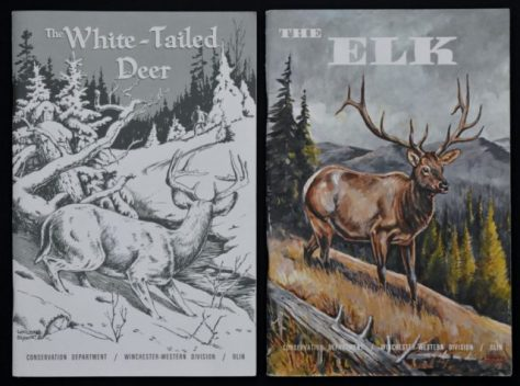 The Elk, 1966; And The White-Tailed Deer, 1961. By John Madson. Both Published By Conservation Department, Winchester-Western Division, Olin Mathieson Chemical Corporation, Winchester-Western Press. Drawings By Charles Schwartz. From the Collection of Michael Patrick McCarty