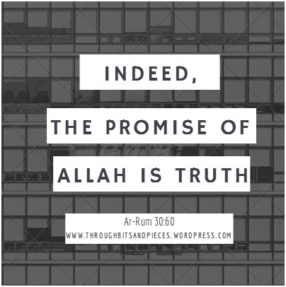 The Promise of Allah is Truth Poster GA