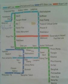 Map of BKK trains