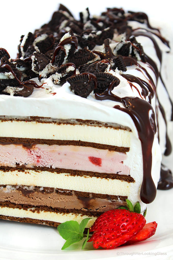 Easy Neapolitan Ice Cream Sandwich Cake Recipe Through