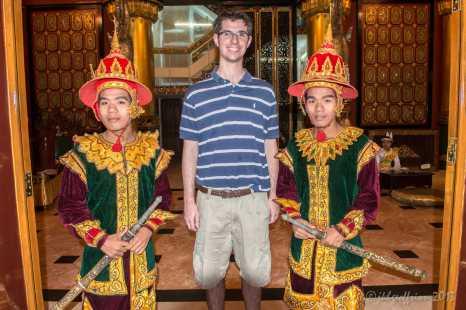 Tourist moment in Yangon