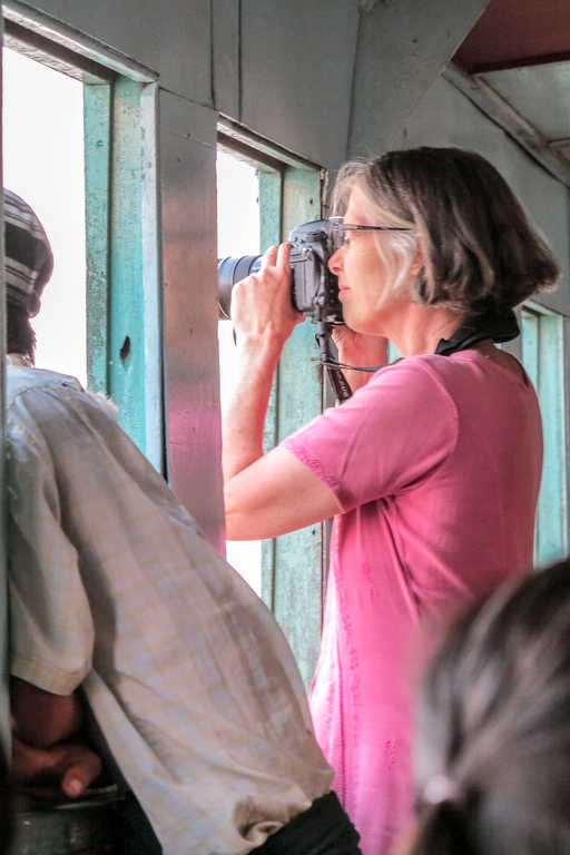 Photographing Yangon harbour