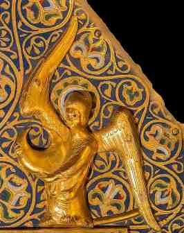 Angel holding the moon