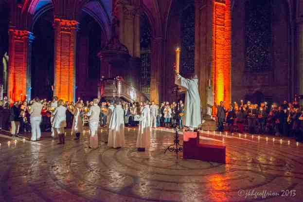 The Paschal Candle returns to the altar