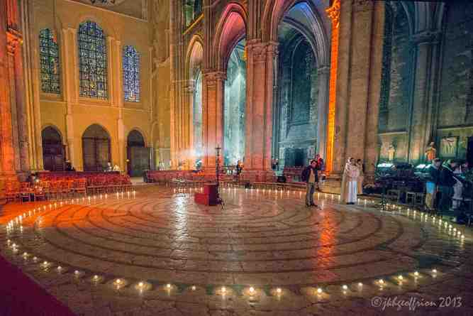 The labyrinth in the cathedral