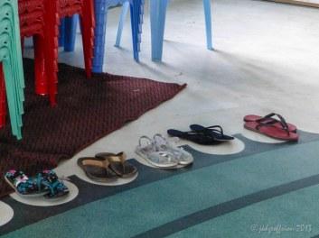 Preparing to walk and pray