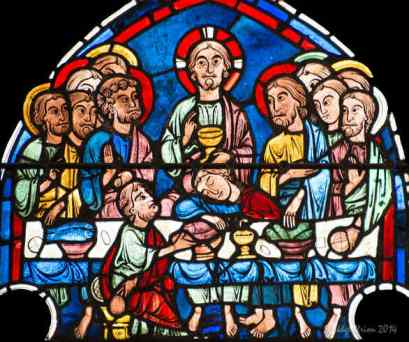 The last supper, Jesus with the cup of the new covenant