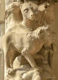 Lion, horse, goat (?)