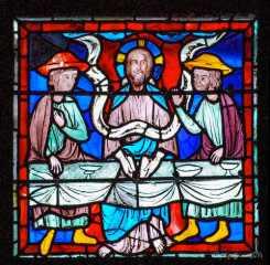 Jesus at Emmaus breaking the bread